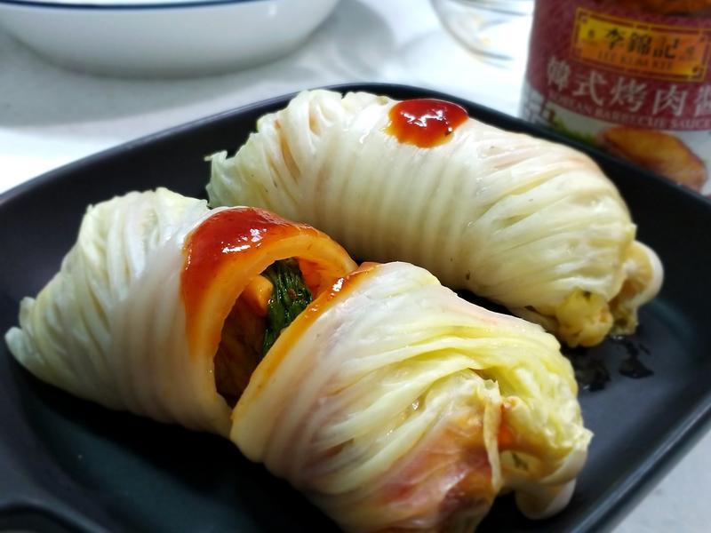 韓風白菜飯捲【 李錦記韓式烤肉醬】