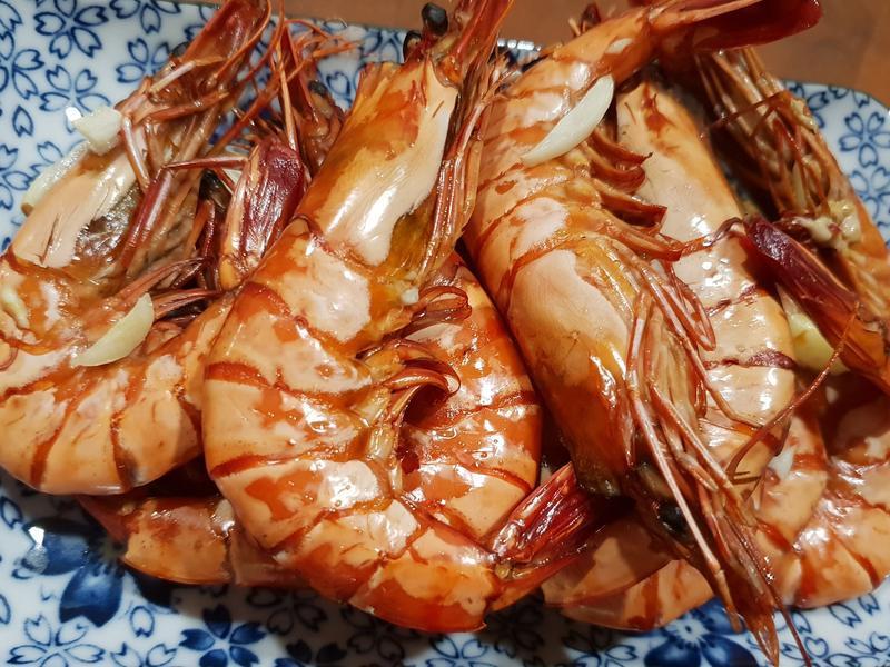 水波爐香烤大草蝦