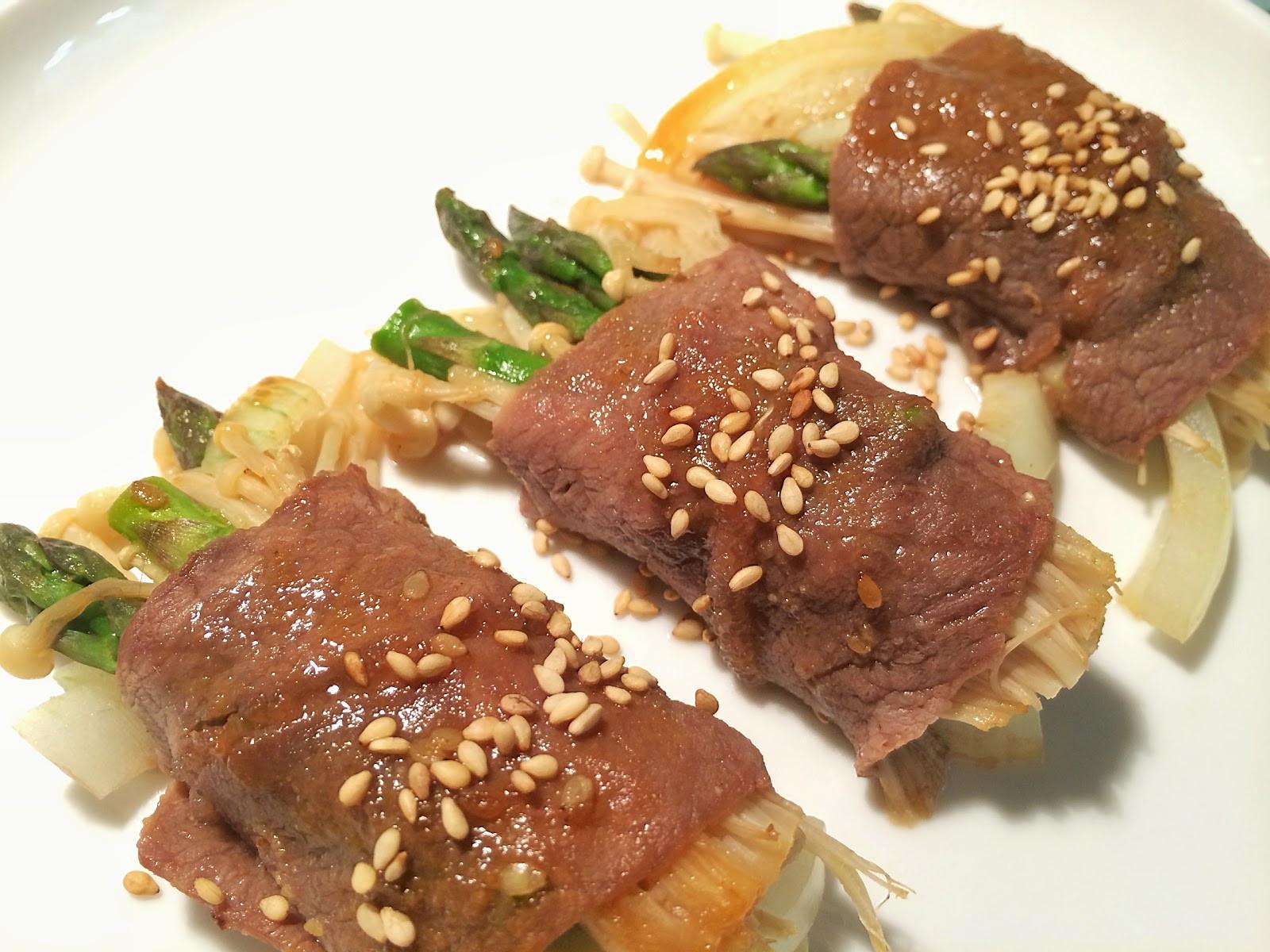 日式洋蔥蘆筍燒烤肉捲