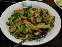 小黃瓜炒油揚
