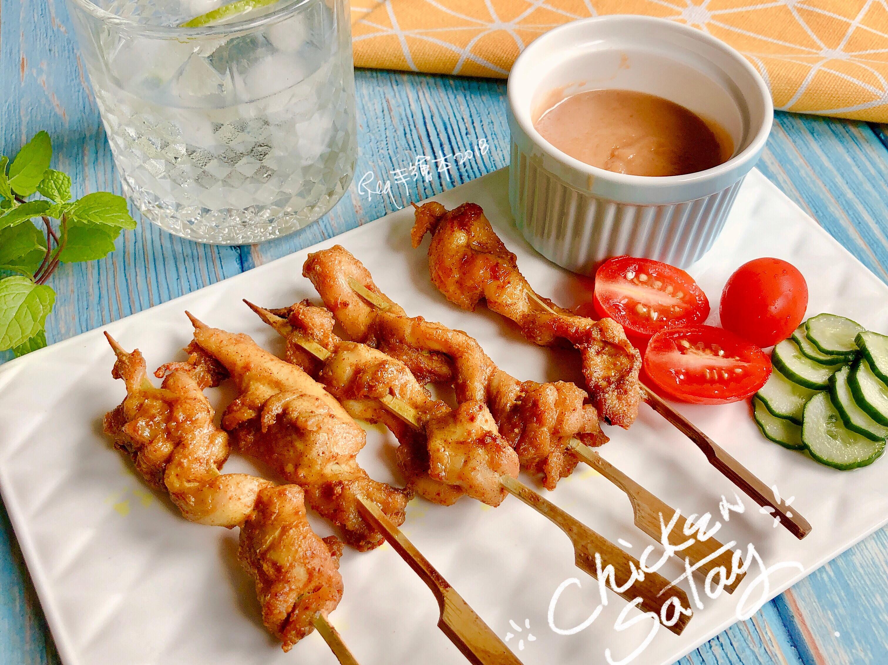 沙嗲雞肉串-手繪食譜