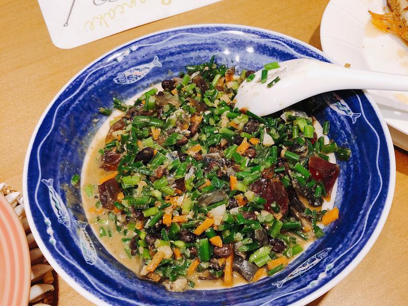 韭菜炒皮蛋