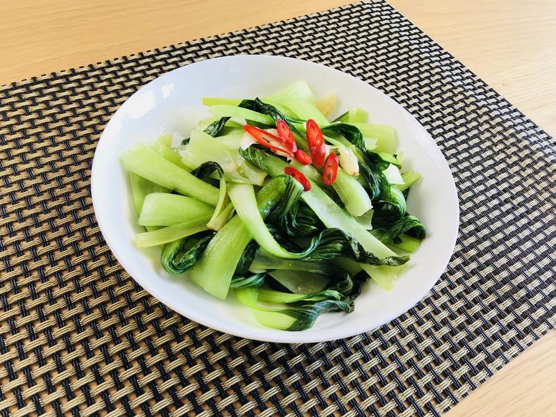 無水料理.蒜炒青江菜 / 0水鍋