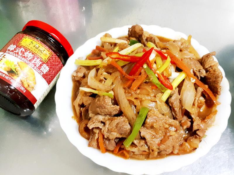 洋蔥炒肉片