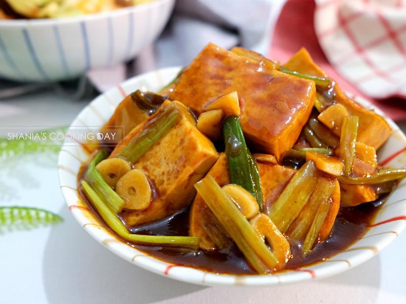 蜜汁蔥燒嫩豆腐
