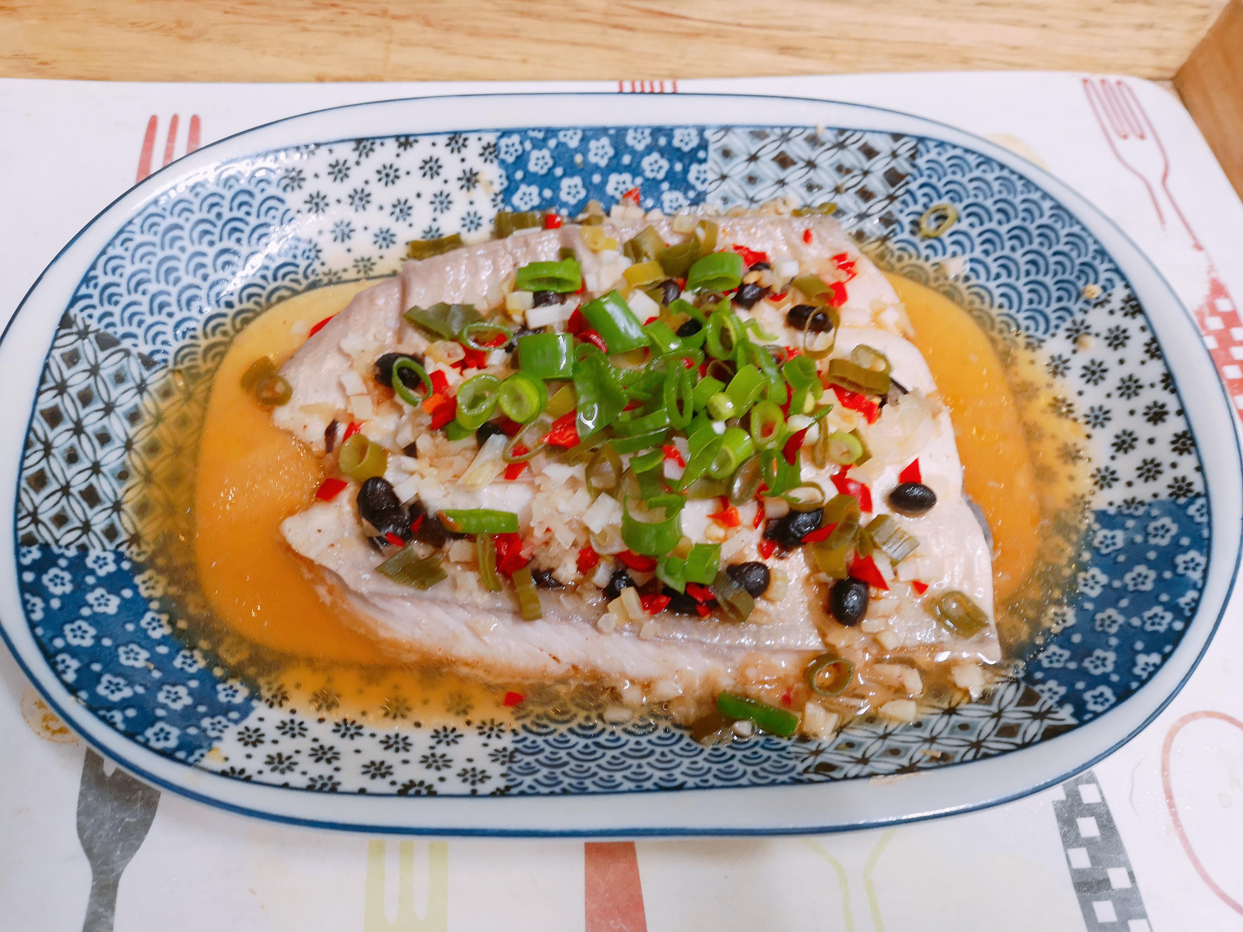 電鍋版❤️豆豉蒸虱目魚肚