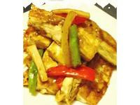 黑胡椒彩蔬豆腐