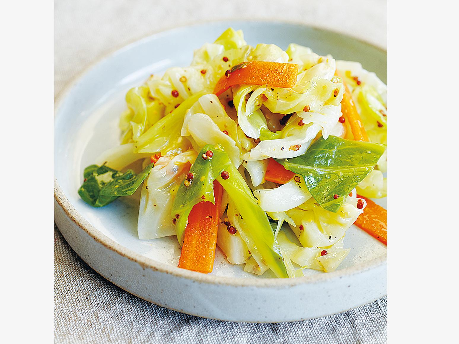 【常備菜】顆粒黃芥末醬涼拌高麗菜