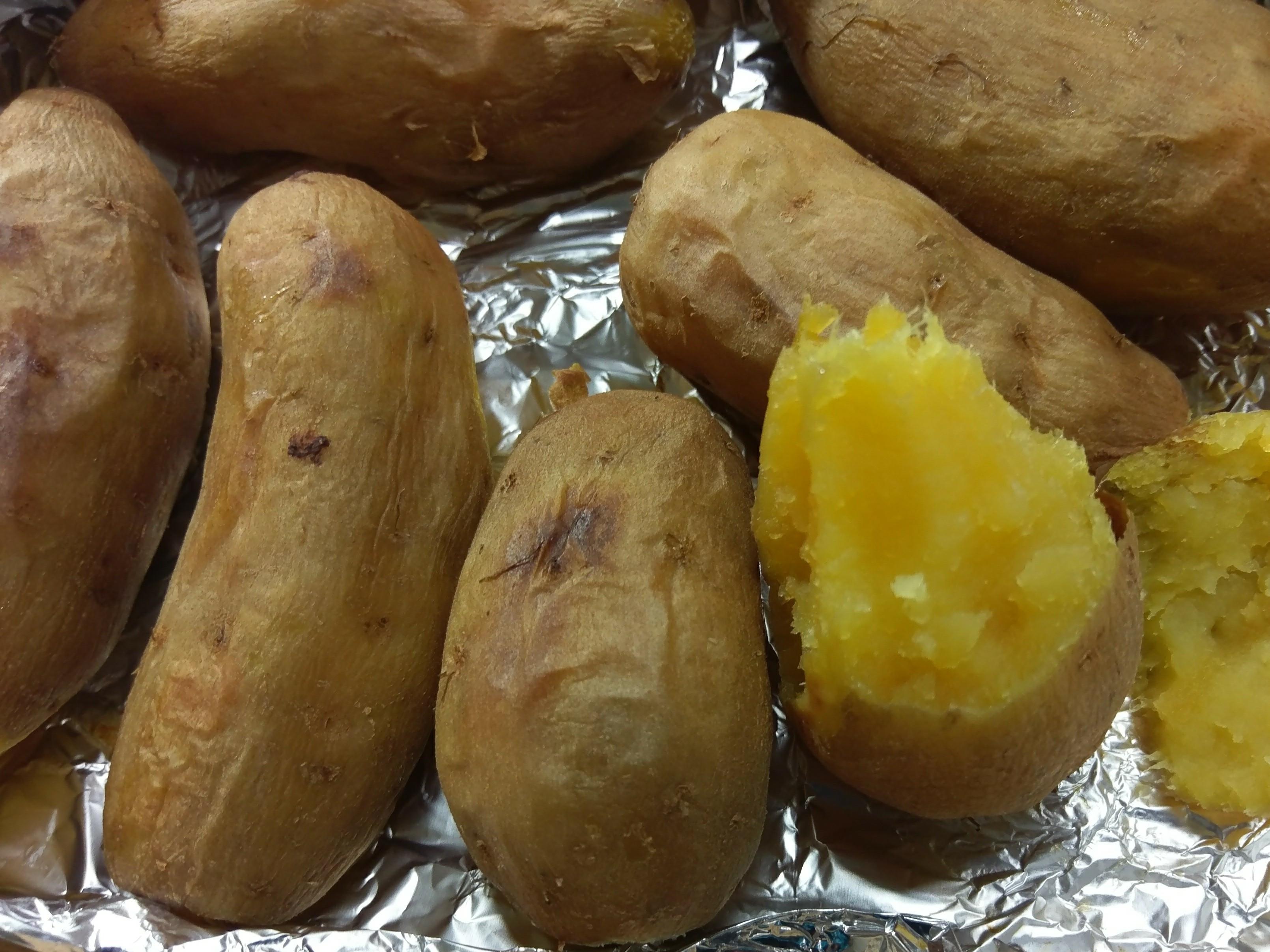 かにの香烤番薯(電鍋+小烤箱)