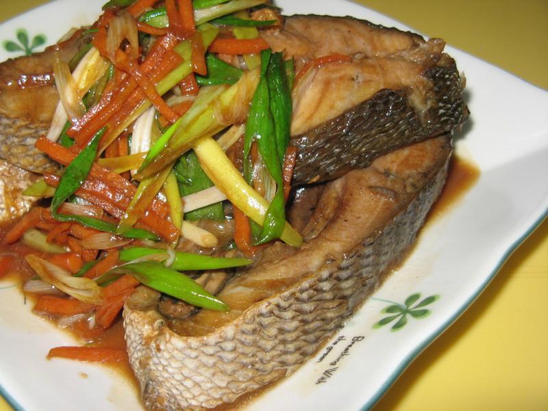 紅燒白毛魚
