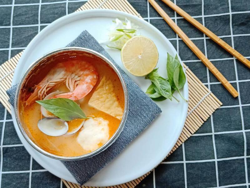 叻沙海鮮濃湯