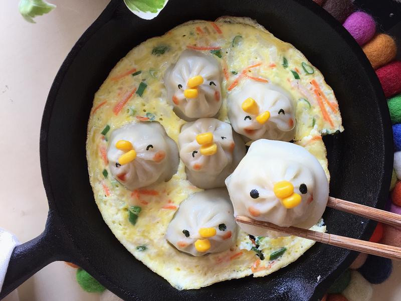 蛋煎湯包(一窩小雞🐤)