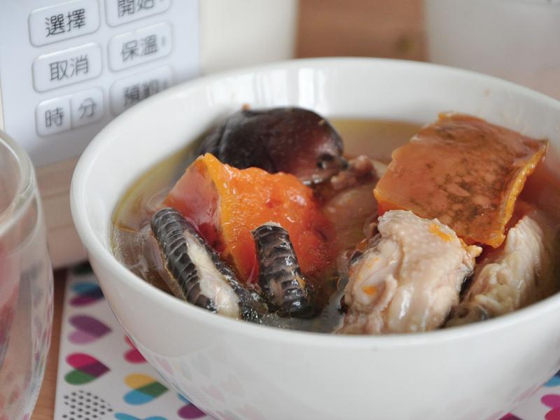 南瓜燉香菇雞湯