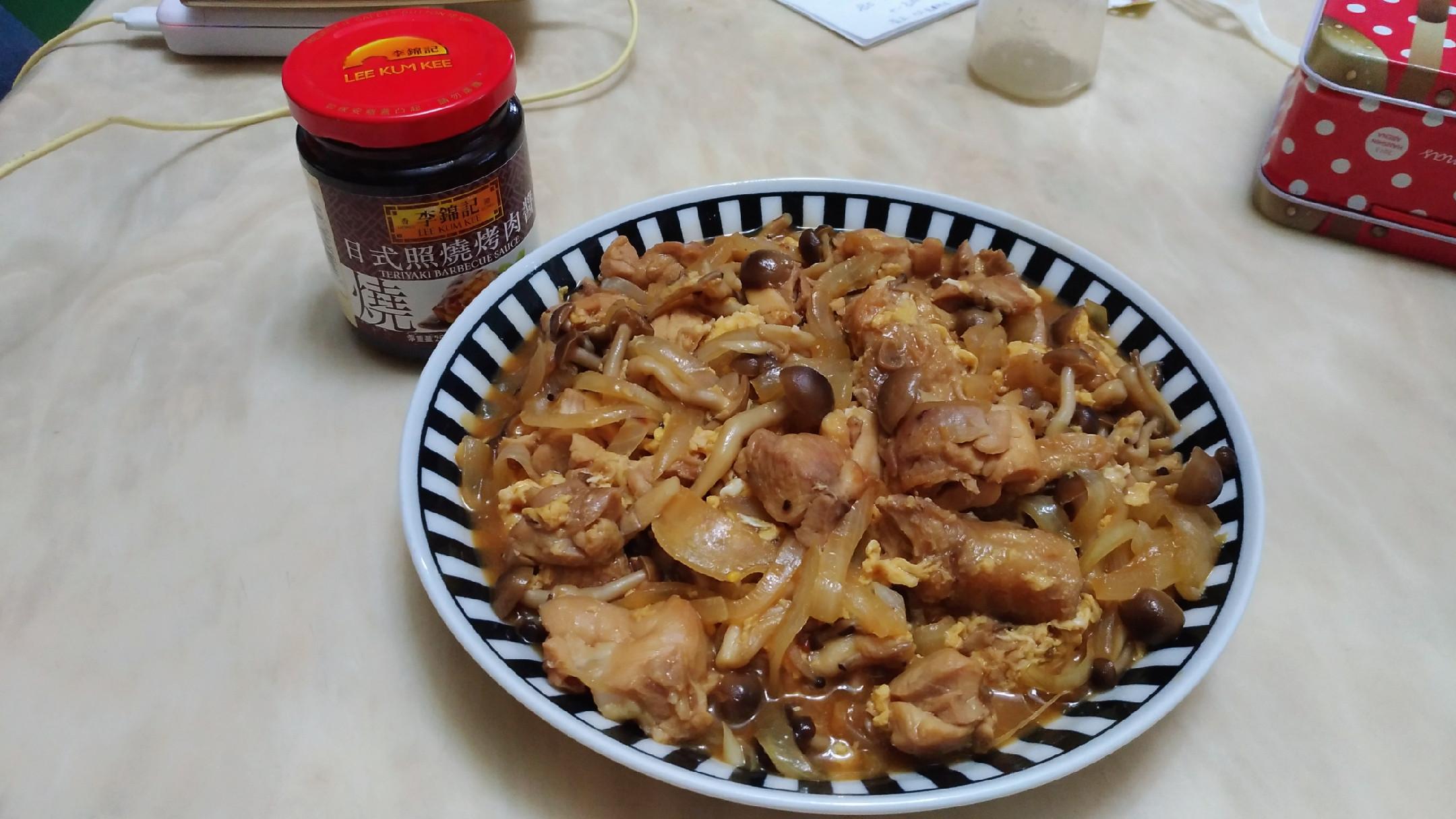 雞肉炒鴻禧菇【李錦記日式照燒烤肉醬】