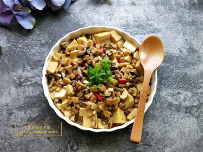 [鮮菇燒豆腐]簡易家常菜