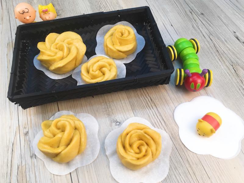 玫瑰造型【地瓜饅頭】