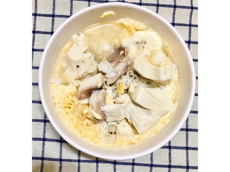 增肌減脂便當-雕魚蛋豆腐