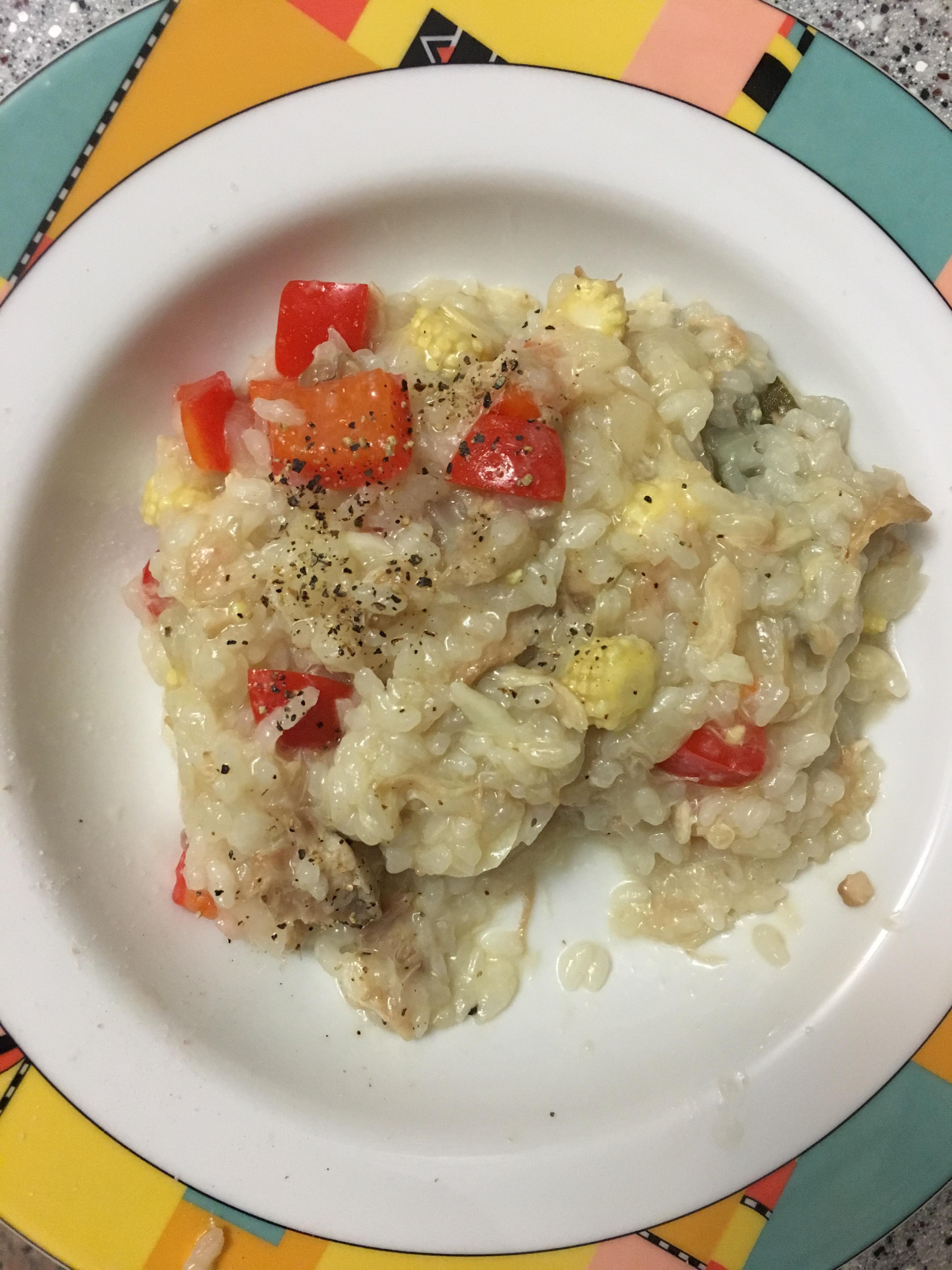 雞肉絲野菜燉飯