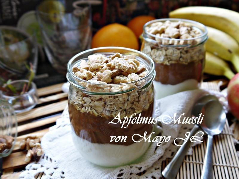 蘋果醬Müsli甜點杯