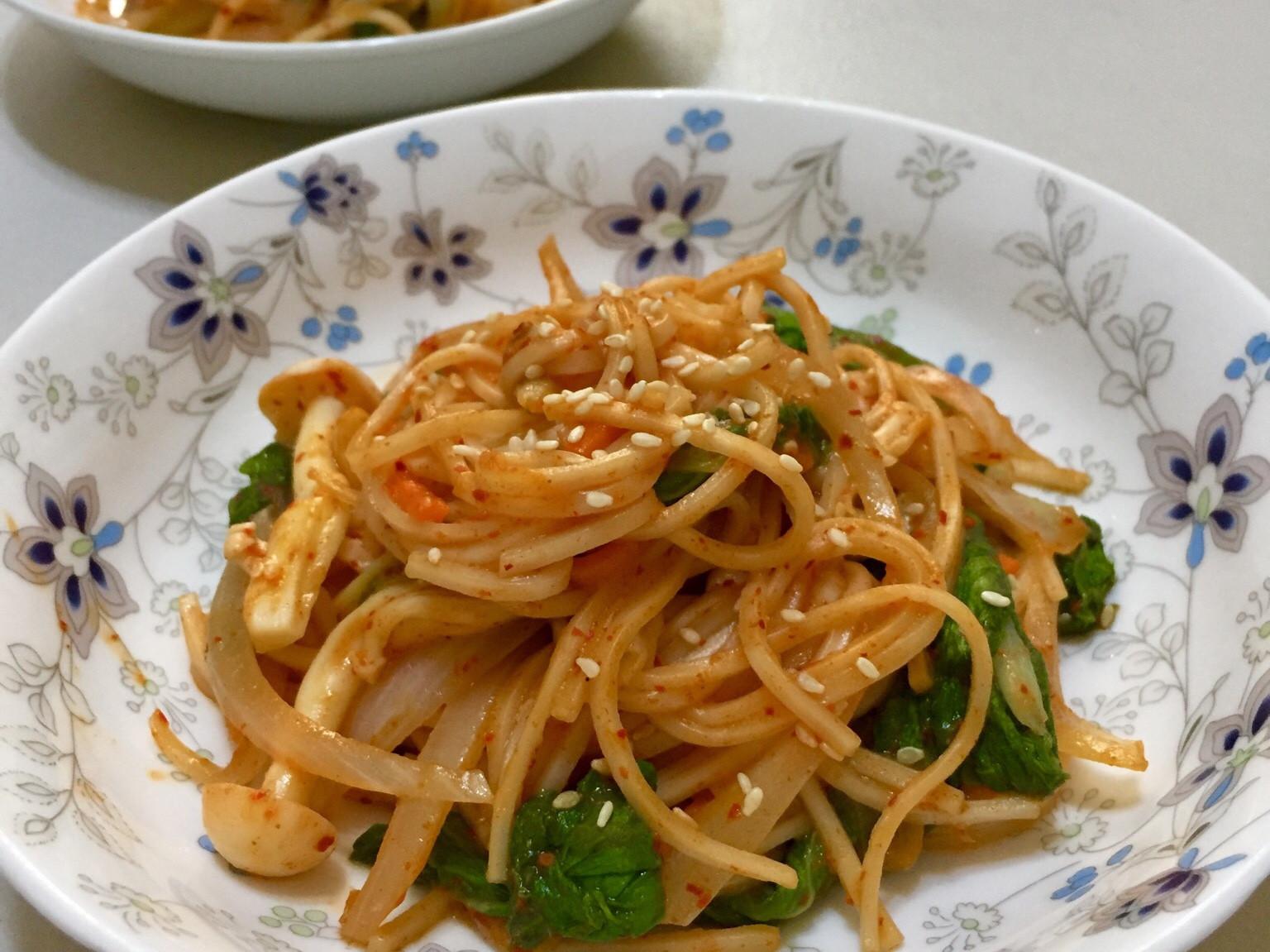 韓式辣醬拌麵(五辛素)