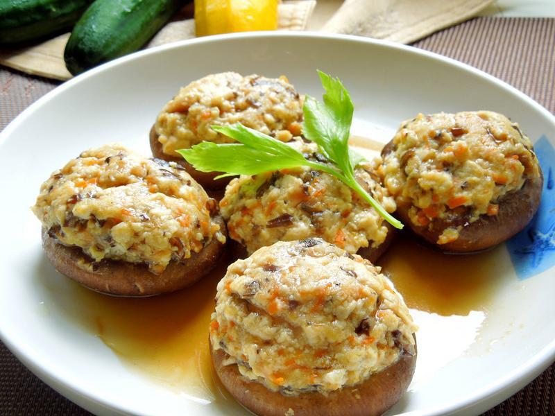 香菇鑲豆腐素食