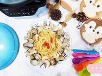 【西式】鮮蝦白酒蛤蜊麵・一鍋到底