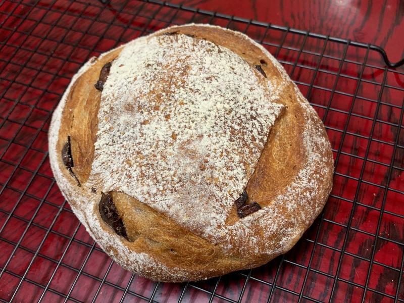 免揉紅酒桂圓歐式麵包