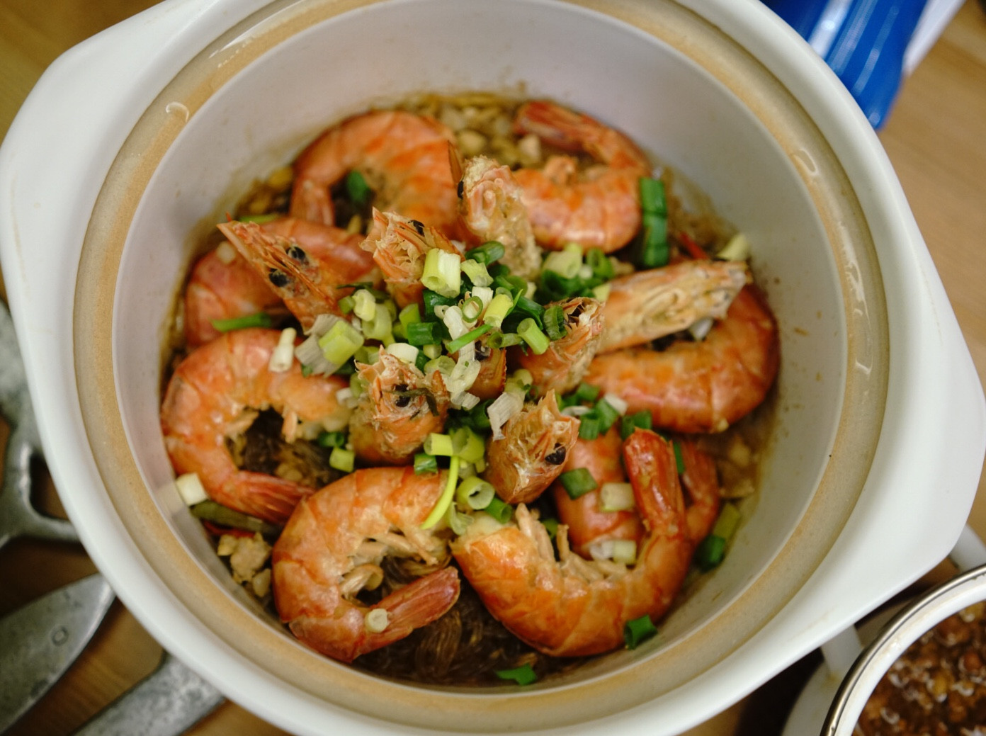 鮮蝦辣味粉絲煲