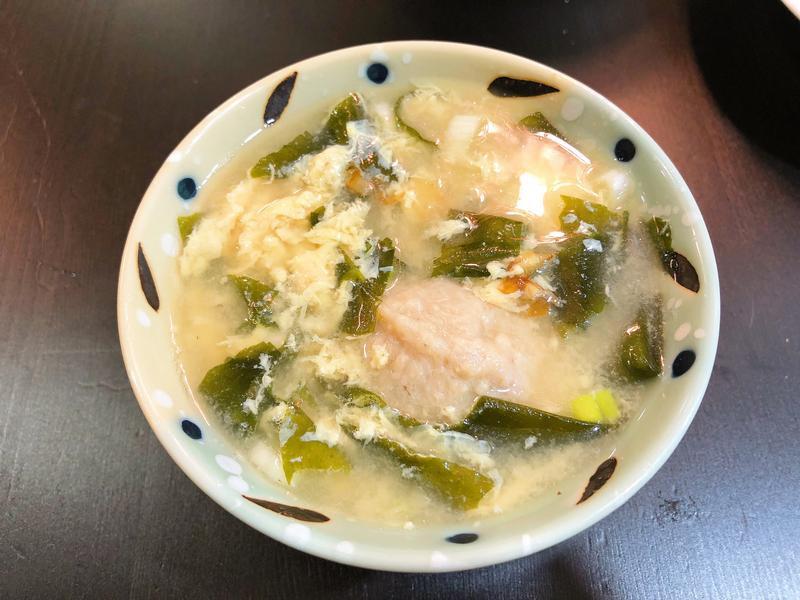 爆香の貢丸蛋花味噌湯