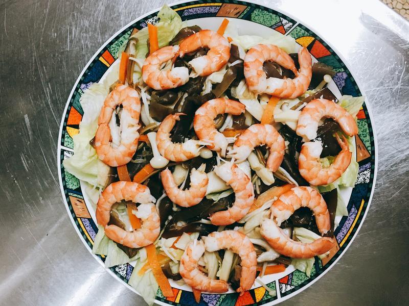 鮮蝦綜合菇菇生菜沙拉