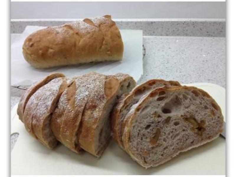 [Witi✿Kitchen](麵包機-麵包)歐風裸麥核桃長型麵包