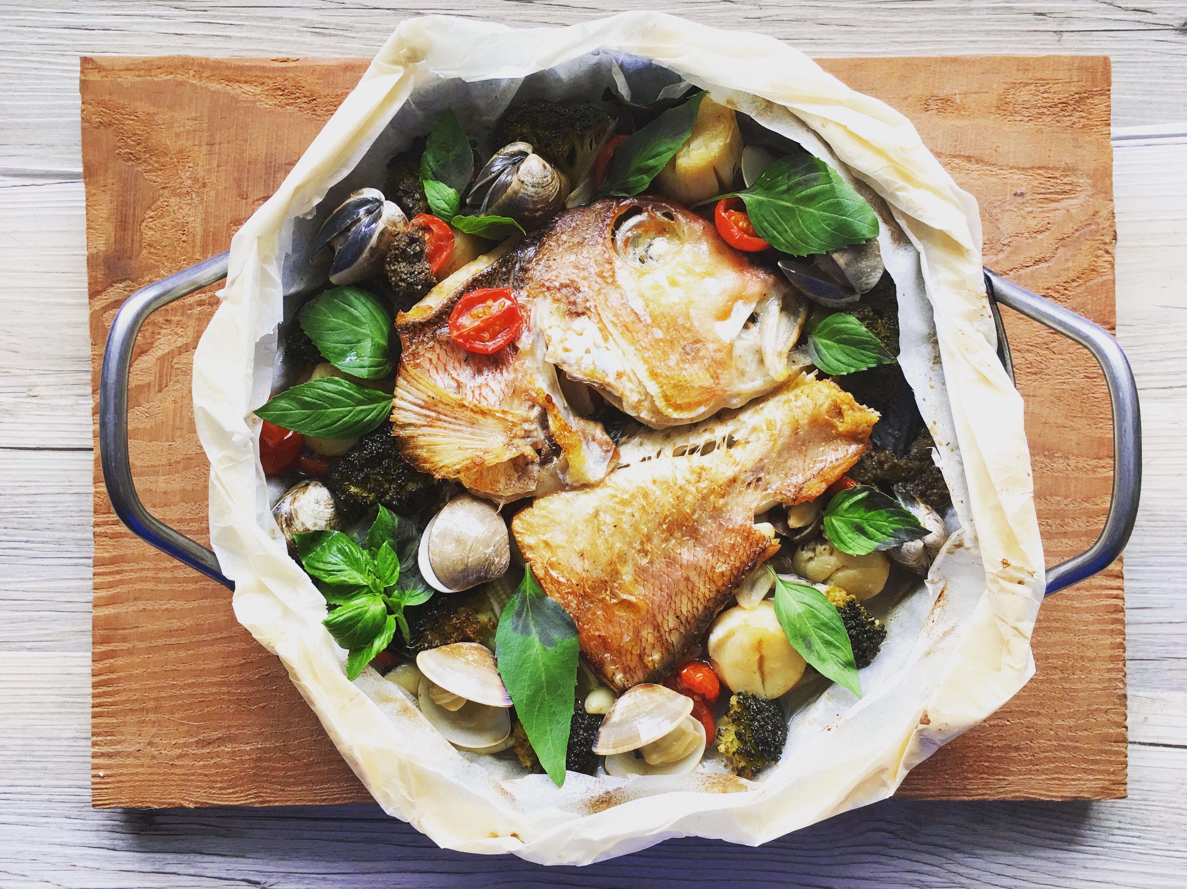 紙包魚-柚子胡椒馬頭魚