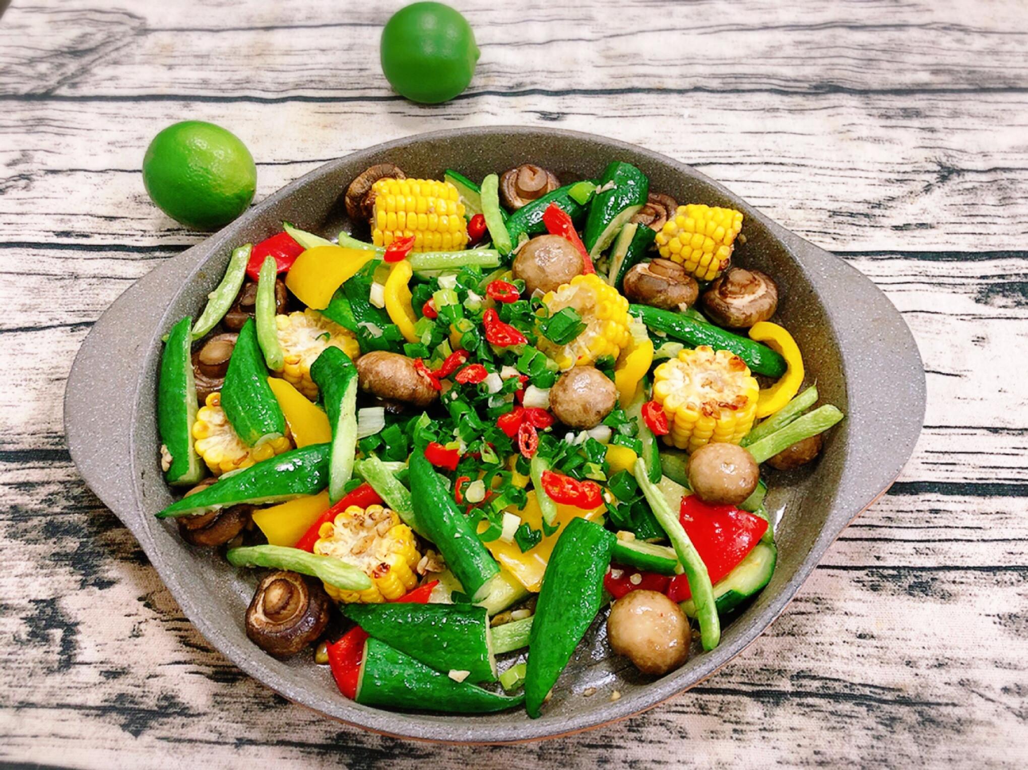 水波爐燒烤野菜