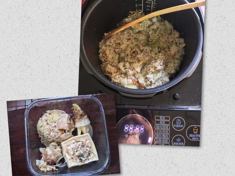 萬用鍋 低脂便當🍱菜之藜麥高麗菜飯