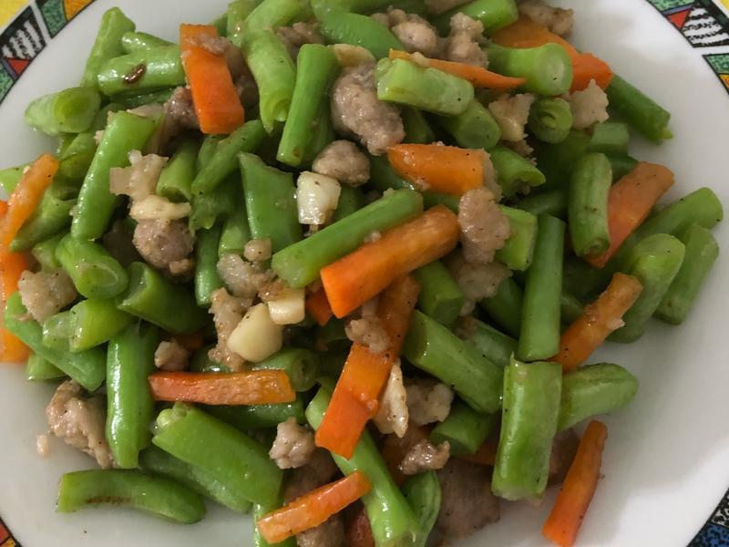 肉末炒四季豆