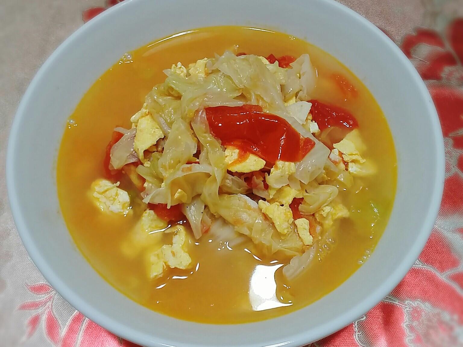 蕃茄蛋燉白菜