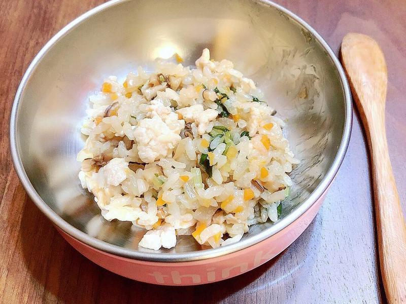 (寶寶食譜)雞胸肉香菇炊飯