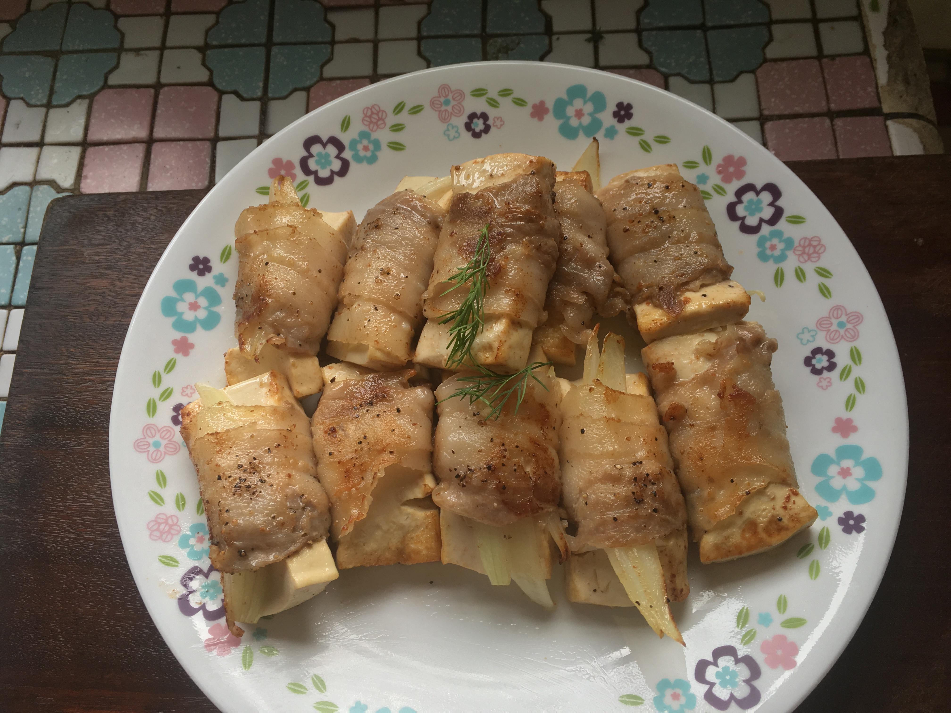 萬用鍋 家常菜 豬肉豆腐捲