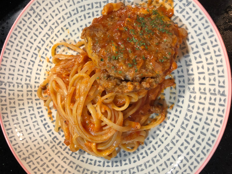 番茄🍅漢堡排義大利麵