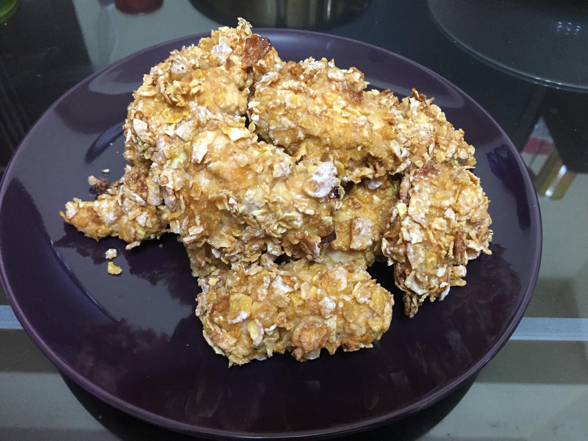 玉米脆片烤雞肉