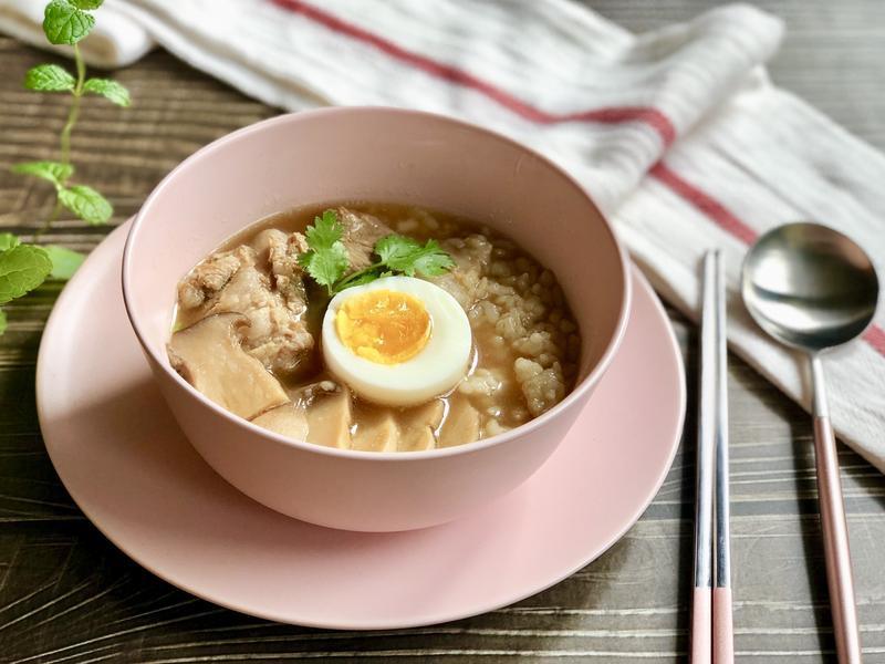 泰式排骨湯泡飯-手繪食譜