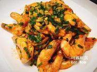 可媽廚房 附影片 蒜香椒鹽大蝦超簡單上菜