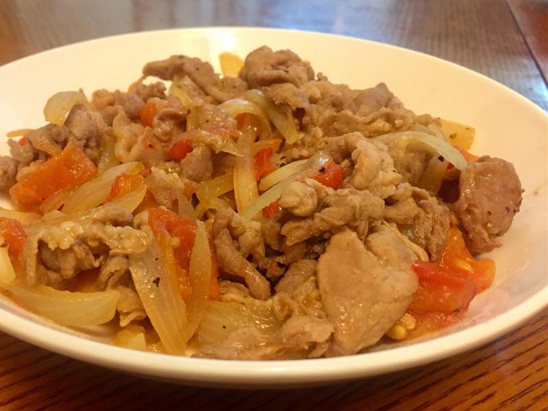 一鍋到底❤️洋蔥蕃茄炒豬肉