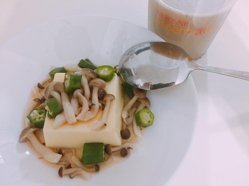 秋葵菇菇蛋豆腐