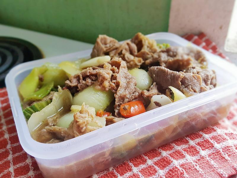 青江菜炒牛肉~超簡單便當菜