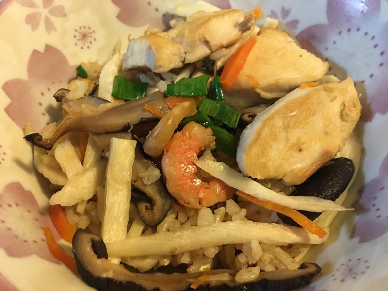 筊白筍雞肉炊飯