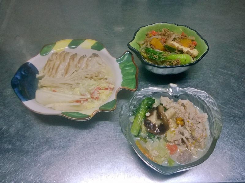 鮮食🐾絲瓜鯛魚蒸蛋 南瓜炒肉 豆漿火鍋