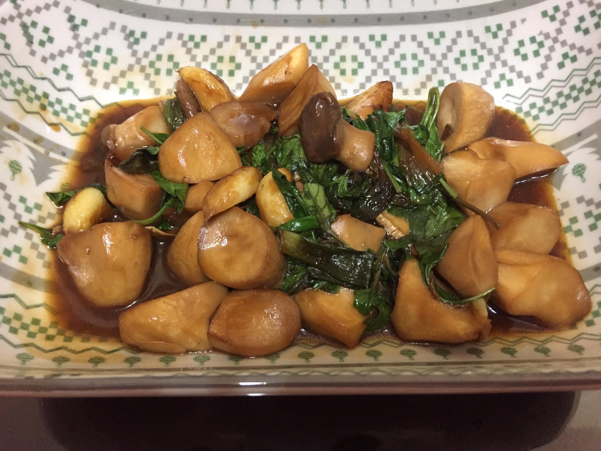 素食也可食用的三杯杏鮑菇