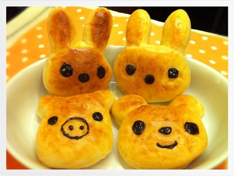 卡哇伊~動物造型奶油湯種麵包