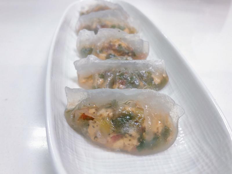 蔬食水晶餃